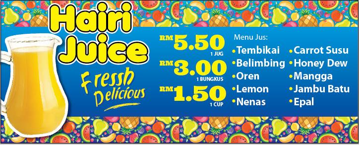 Business JUS BUAH Bazar Ramadhan