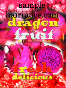 sticker dragon fruit ( buah naga )