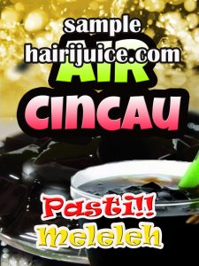 sticker balang air cincau