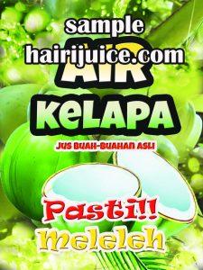 sticker balang air kelapa