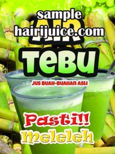 sticker balang air tebu