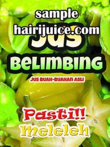 sticker balang jus belimbing