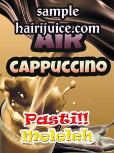 sticker balang air capucino