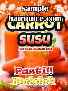 sticker balang carrot susu