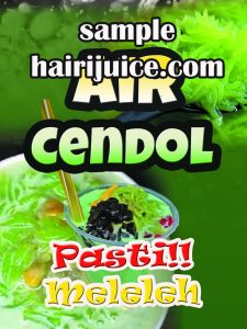 sticker balang air cendol