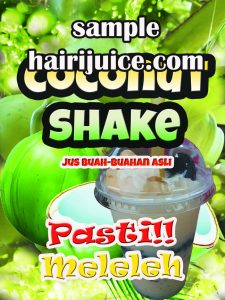 sticker balang coconut shake