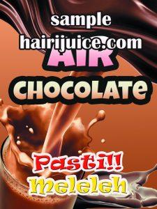 sticker balang air coklat