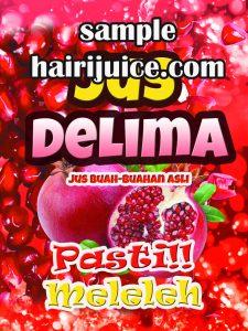 sticker balang jus delima