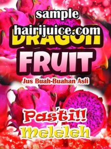sticker balang dragon fruit