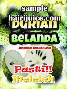 sticker balang durian jus belanda