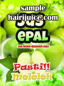 sticker balang jus epal