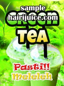 sticker balang green tea