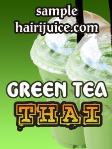 sticker balang green tea thai