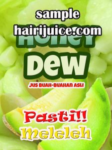 sticker balang jus honey dew