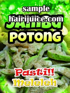 sticker jambupotong