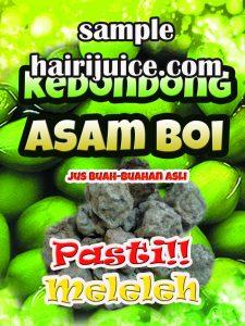 sticker balang jus kedondong asam boi