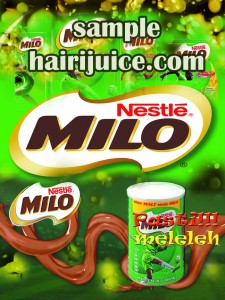sticker balang air milo
