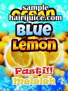 sticker balang ocean blue lemon
