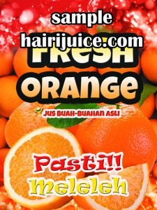 sticker balang fresh orange