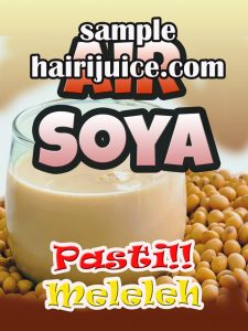 sticker balang air soya