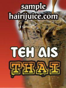 sticker balang teh ais thai
