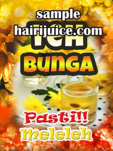 sticker balang air teh bunga